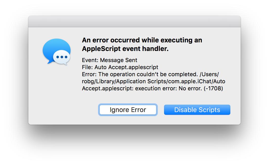 Fix Messages' broken bundled AppleScripts | The Robservatory