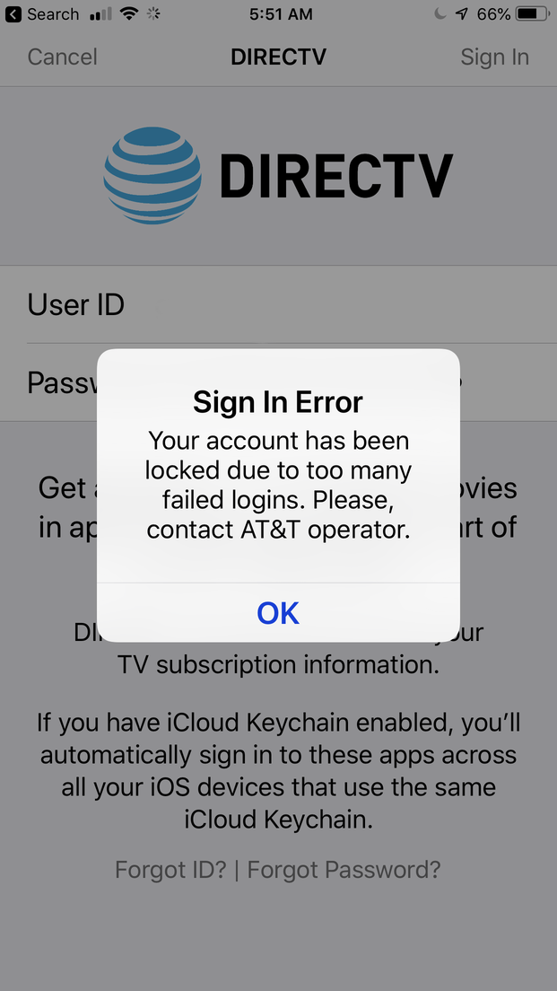 Someone intercepted my login info in DirecTV's iPhone app | The