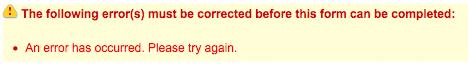 Strange error