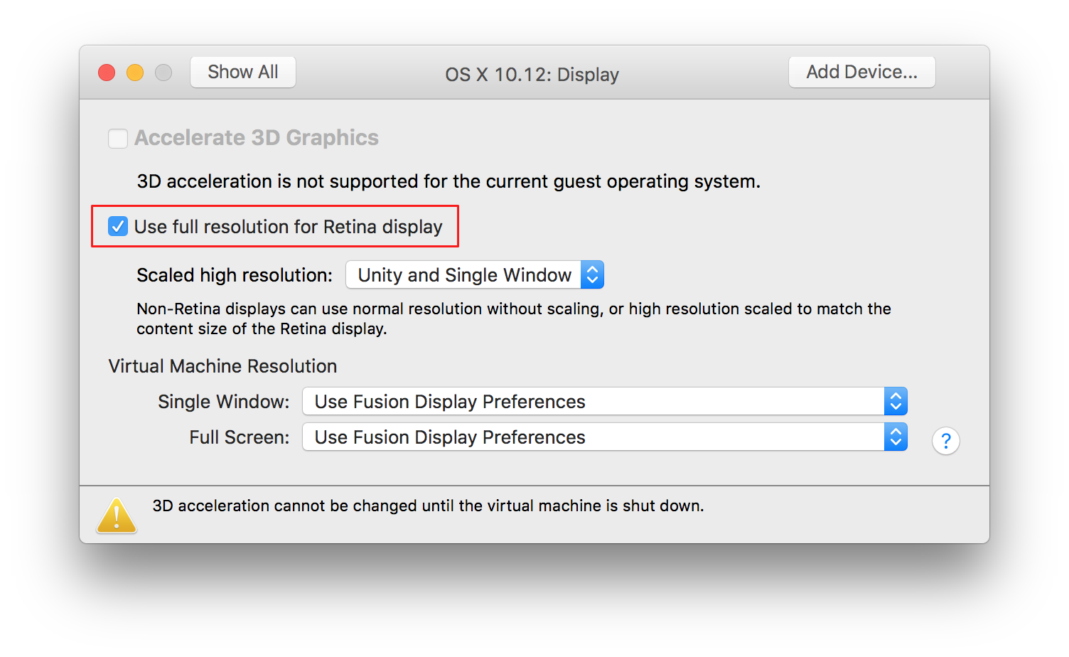 Use macOS VMs in VMware Fusion in retina mode | The Robservatory